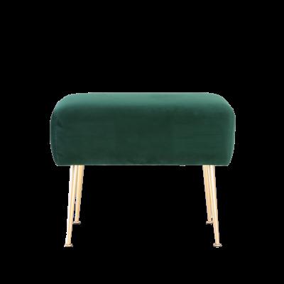 Alero Ottoman - Dark Green (Velvet) - Image 1