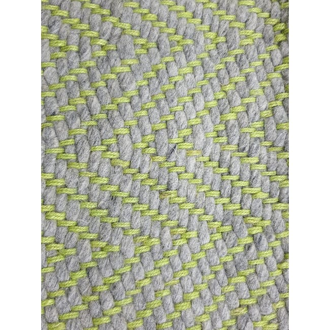 Ross Flatwoven Rug 2.4m by 1.7m - Green - 1