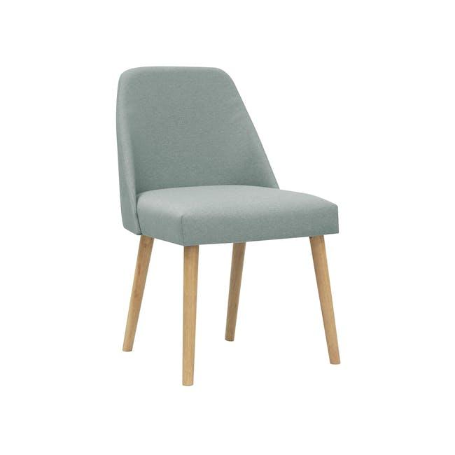 (As-is) Miranda Chair - Natural, Sea Green - 1 - 10