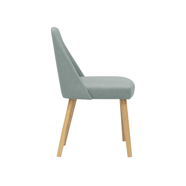 Roden Dining Table 1.8m in Natural with 4 Miranda Chairs in Sea Green and Pink - 8