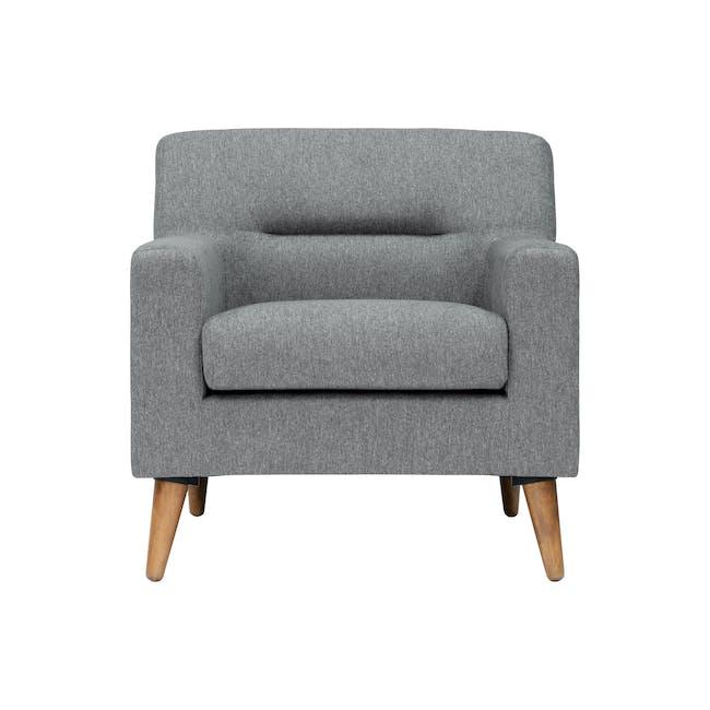 Damien 2 Seater Sofa with Damien Armchair - Heather Grey - 5