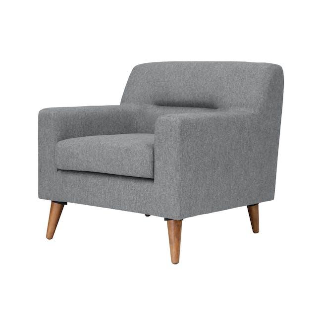 Damien 2 Seater Sofa with Damien Armchair - Heather Grey - 6