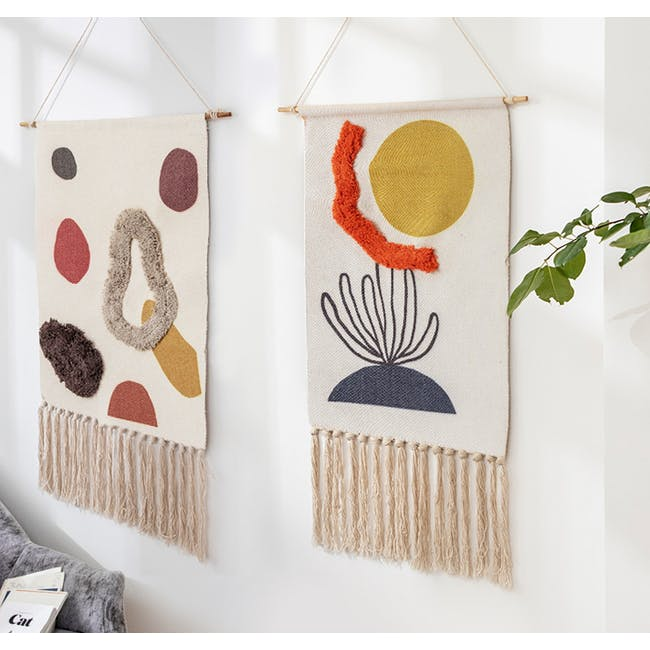 Nordic Tapestry with Tassle - Sun & Sea - 2