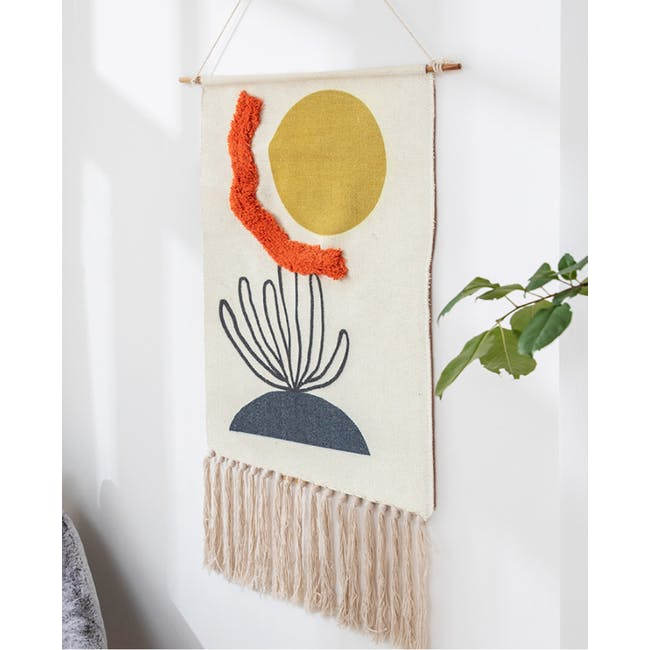 Nordic Tapestry with Tassle - Sun & Sea - 3