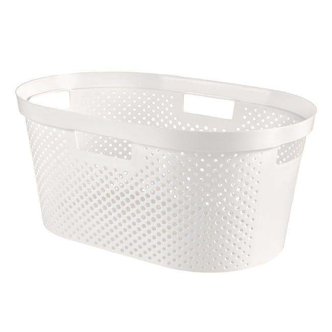 Infinity Laundry Basket Dots - White - 0
