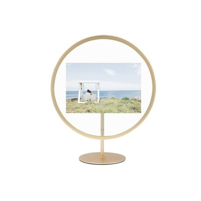 Infinity Round Photo Display - Large - Matte Brass - 0