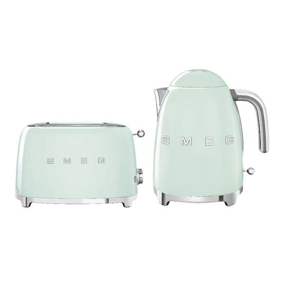 HipVan Bundles - Smeg Pastel Green Breakfast Set - Toaster and Kettle