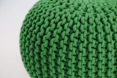 Maui Knitted Pouffe - Forest - Image 2