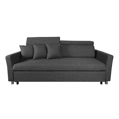 Bowen 3 Seater Sofa Bed Grey Image 1