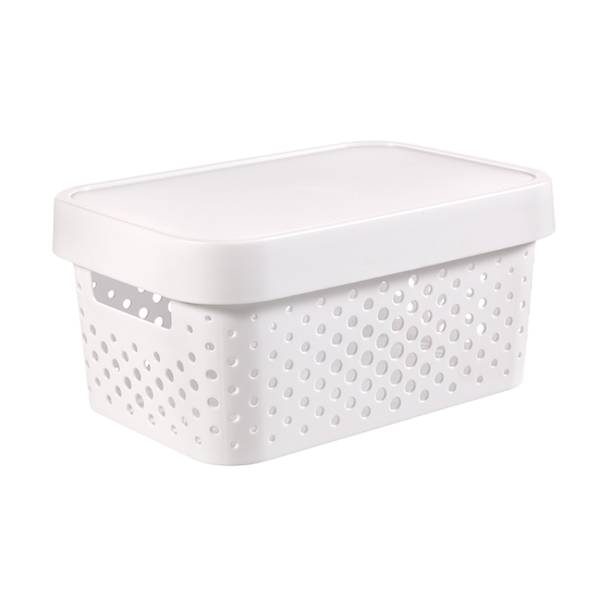Curver - Infinity Box Dots + Lid - White