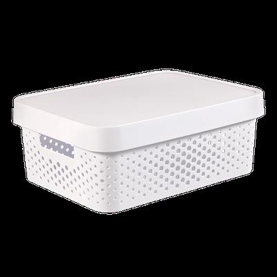 Infinity Box Dots + Lid - White - Image 1