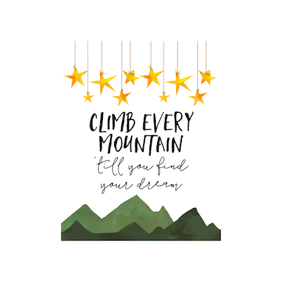 Climb Every Mountain Canvas Art Print - Image 2