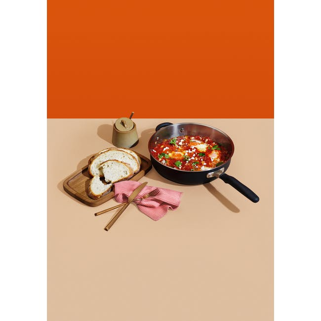 Meyer Accent Series Stainless Steel 28cm Sauté Pan With Lid - 1