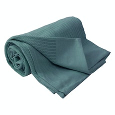 Leno Weave Cotton Throw - Smoke Blue