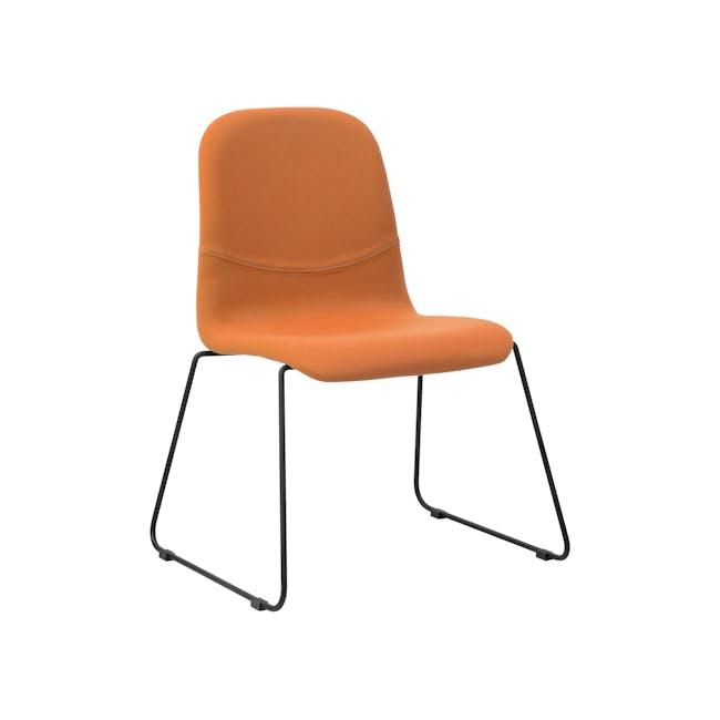 Ava Dining Chair - Matt Black, Tangerine - 3