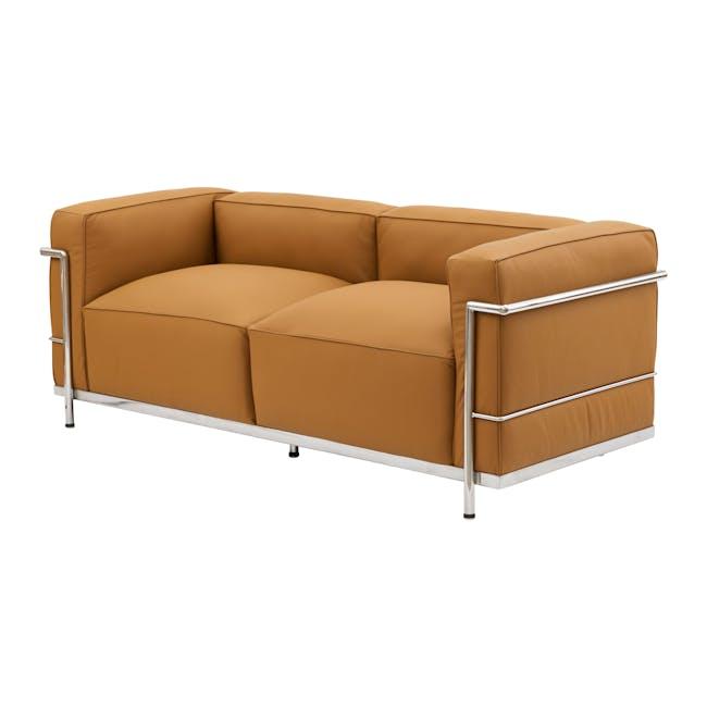LC3 2 Seater Sofa Replica - Tan (Genuine Cowhide) - 1