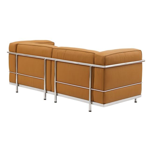 LC3 2 Seater Sofa Replica - Tan (Genuine Cowhide) - 3