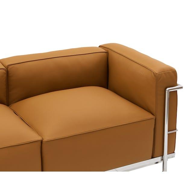 LC3 2 Seater Sofa Replica - Tan (Genuine Cowhide) - 4
