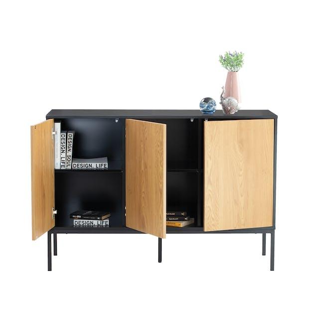 Sligo Sideboard 1.2m - Black, Oak - 1