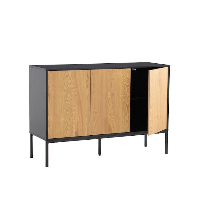 Sligo Sideboard 1.2m - Black, Oak - 4