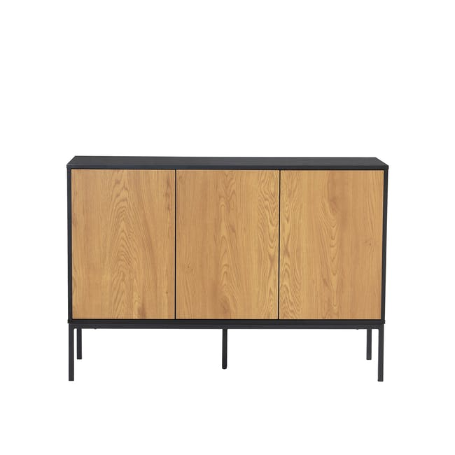 Sligo Sideboard 1.2m - Black, Oak - 0