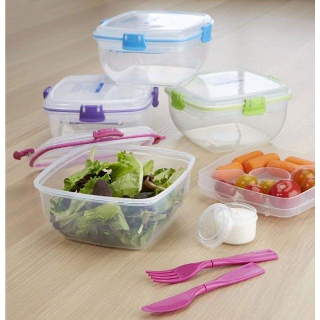 Sistema Salad to Go 1.1L - Pink - 2
