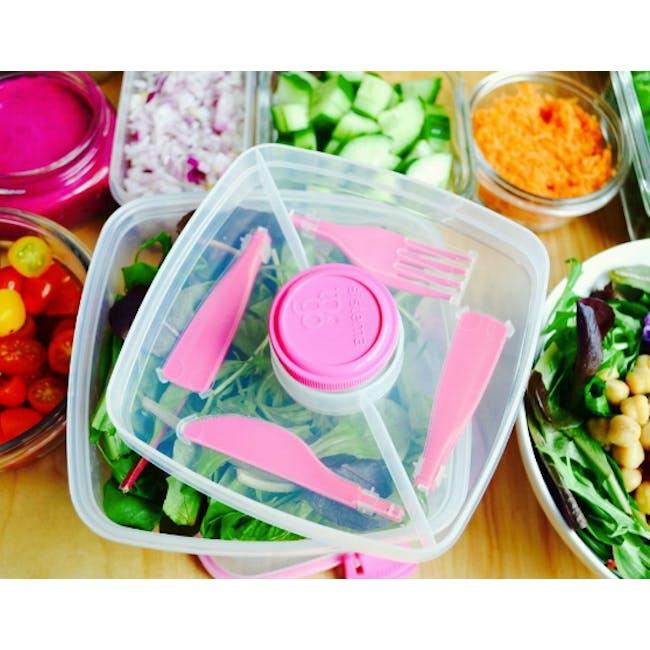 Sistema Salad to Go 1.1L - Pink - 1