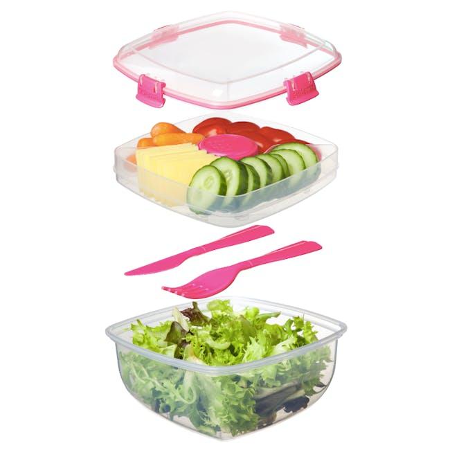 Sistema Salad to Go 1.1L - Pink - 4