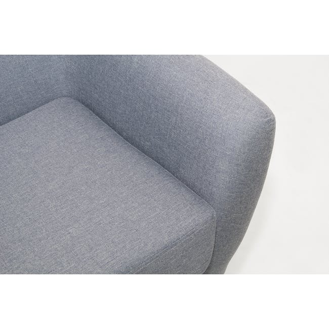 Emma 3 Seater Sofa - Dusk Blue - 8