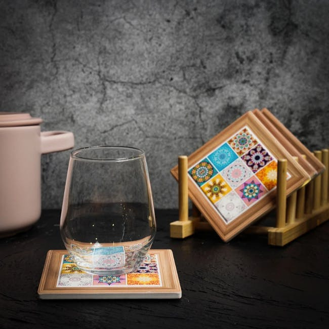 Peranakan Ceramic Cup Coaster - Odel - 1