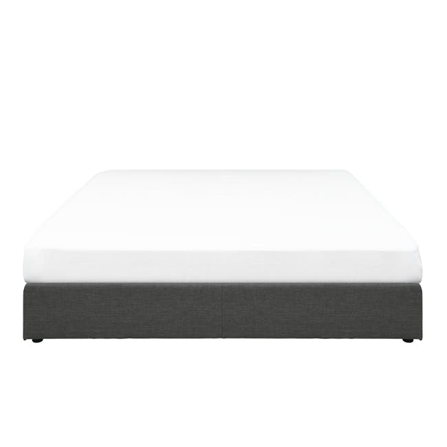 ESSENTIALS Queen Box Bed - Smoke (Fabric) - 0