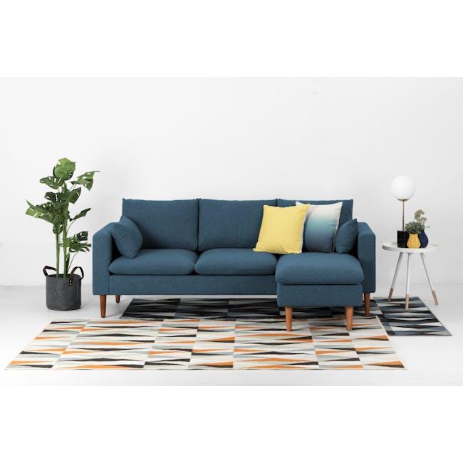 Alicia L-Shaped Sofa - Blue - 3