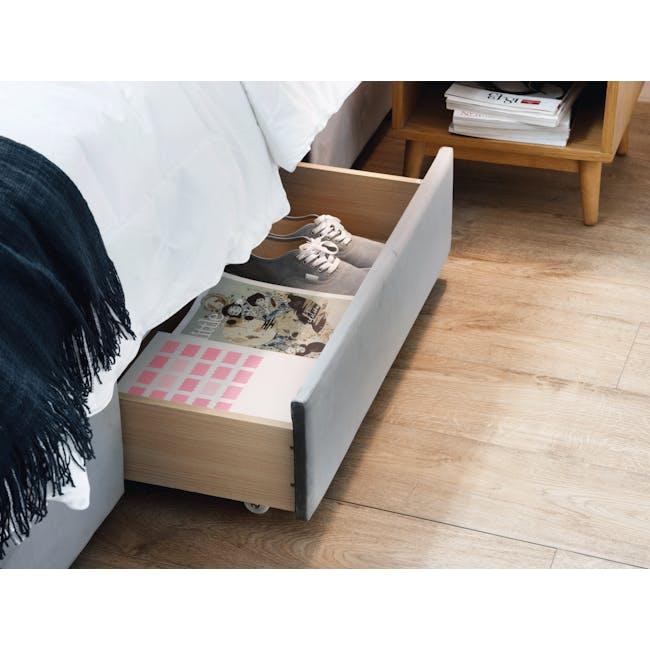 Lexi Queen 3 Drawer Bed - Moonstone (Velvet) - 2