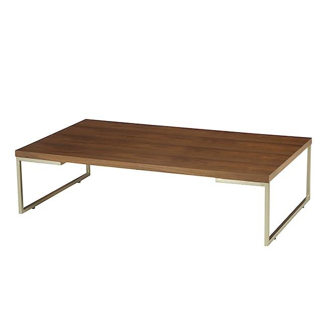 (As-is) Myron Rectangle Coffee Table - Walnut, Matt Silver - 5 - 0