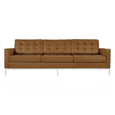 Florence Knoll 3 Seater Sofa Italian Leather Image 1