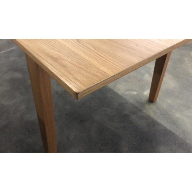 (As-is) Kiros Extendable Dining Table 1.8m - Oak, White - 9
