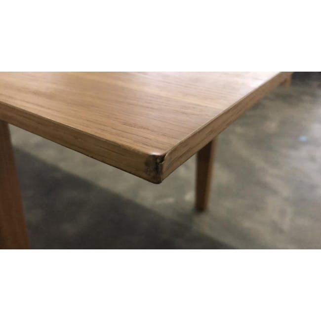 (As-is) Kiros Extendable Dining Table 1.8m - Oak, White - 8