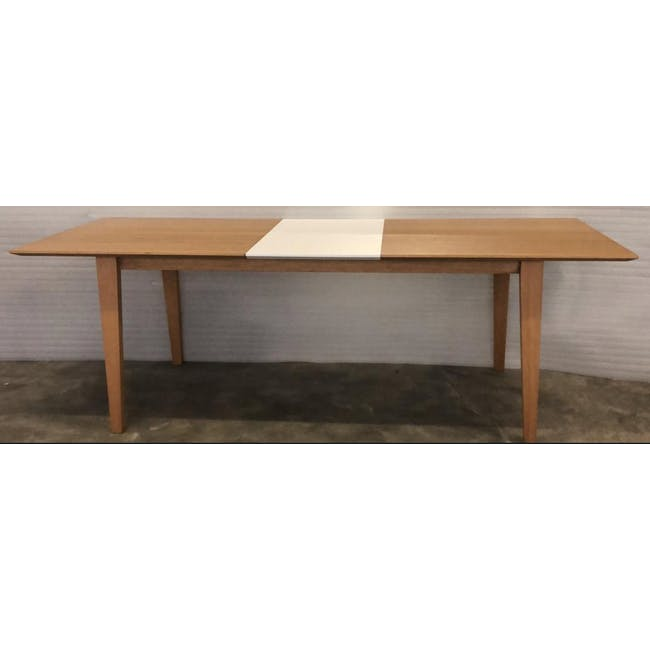 (As-is) Kiros Extendable Dining Table 1.8m - Oak, White - 1