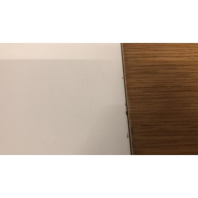 (As-is) Kiros Extendable Dining Table 1.8m - Oak, White - 7