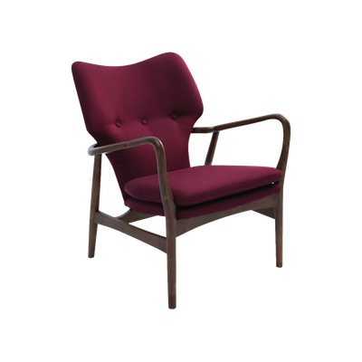Uta Lounge Chair - Ruby, Walnut - Image 1