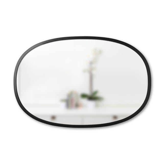 Hub Oval Mirror 61 x 91 cm - Black - 0
