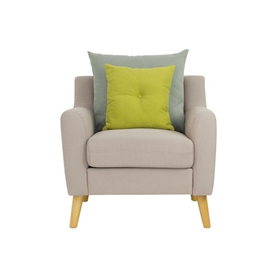 Evan Jr. Armchair w/ Cushions - Sand - Image 1