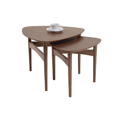Poet Occasional Table Set - Walnut - Image 2