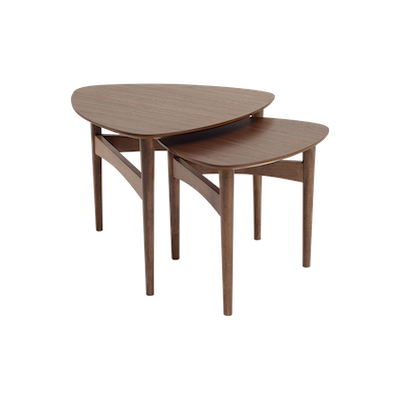 Poet Occasional Table Set - Walnut - Image 1