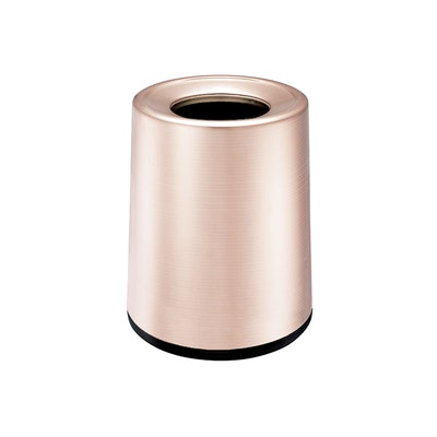Matte Open-Top Trash Bin - Rose Gold