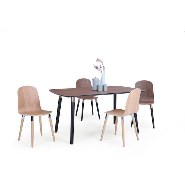 Jazz Dining Table 1.5m - Walnut, Black - 1