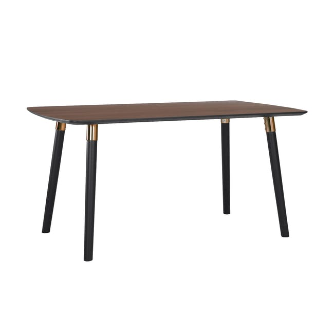 Jazz Dining Table 1.5m - Walnut, Black - 3