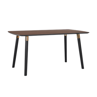 Jazz Dining Table 1.5m - Walnut, Black - Image 2
