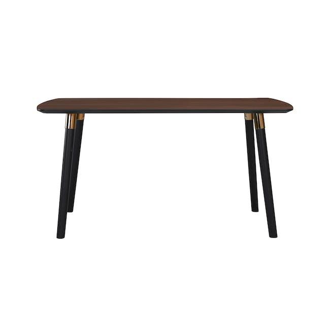 Jazz Dining Table 1.5m - Walnut, Black - 5