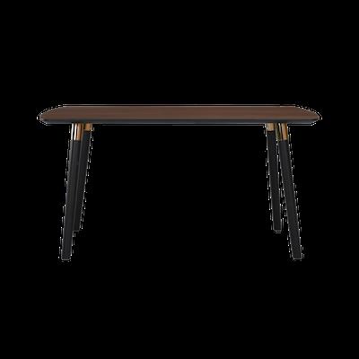Jazz Dining Table 1.5m - Walnut, Black - Image 1